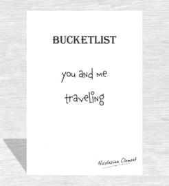 Bucketlist cards  - Reizen