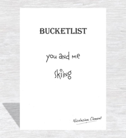 Bucketlist card - skiing