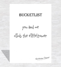 Bucketlist card - climb the effeltower