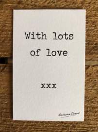 Lots of love