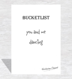 Bucketlist card - dancing