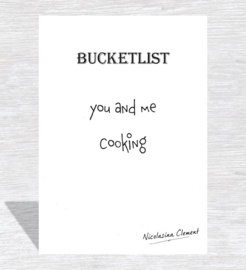 Bucketlist card - cooking