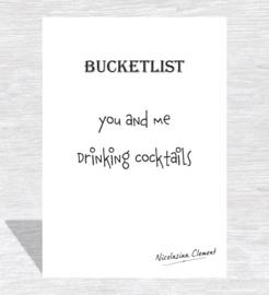 Bucketlist card - drinking cocktails