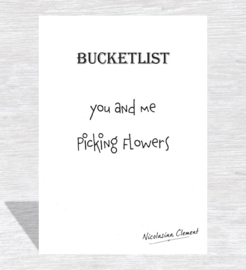Bucketlist card - picking flowers