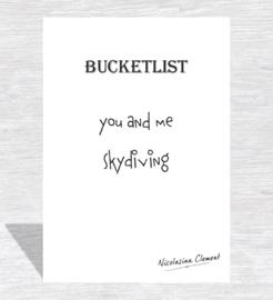 Bucketlist card - skydiving