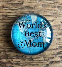 "Magneet ""Worlds best Mom"""