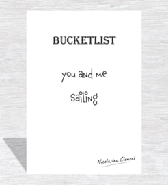 Bucketlist card - sailing