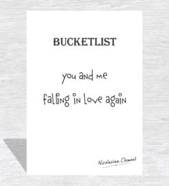 Bucketlist card - falling in love again