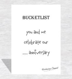 Bucketlist card - celebrate