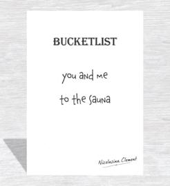 Bucketlist card - to the sauna
