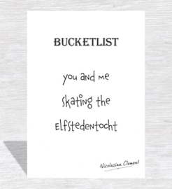 Bucketlist card - skating the elfstedentoch