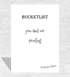 Bucketlist card - texting
