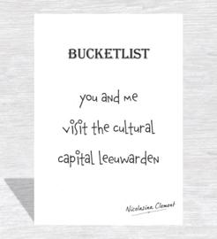 Bucketlist card - visit the cultural capital Leeuwarden
