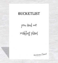 Bucketlist card - making plans
