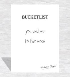 Bucketlist card - to the moon