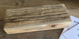 Robuust houten kaarthouder 19x12 cm nog 2 op voorraad op=op