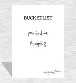 Bucketlist card - shopping