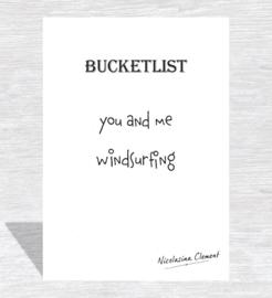 Bucketlist card - windsurfing