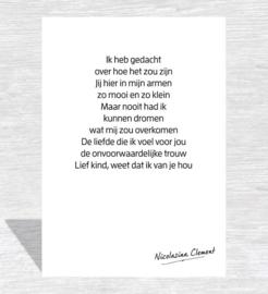 Lief kind - Miniposter A5