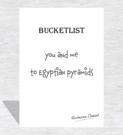 Bucketlist card - to Egyptian pyramids