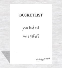 Bucketlist card - on a safari
