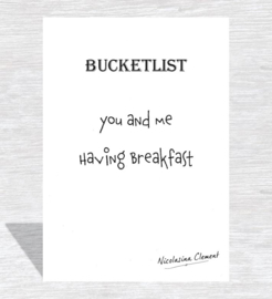 Bucketlist card - having breakfast