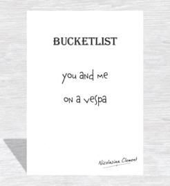 Bucketlist card - on a vespa