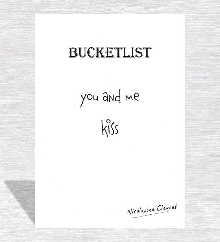 Bucketlist card - kiss
