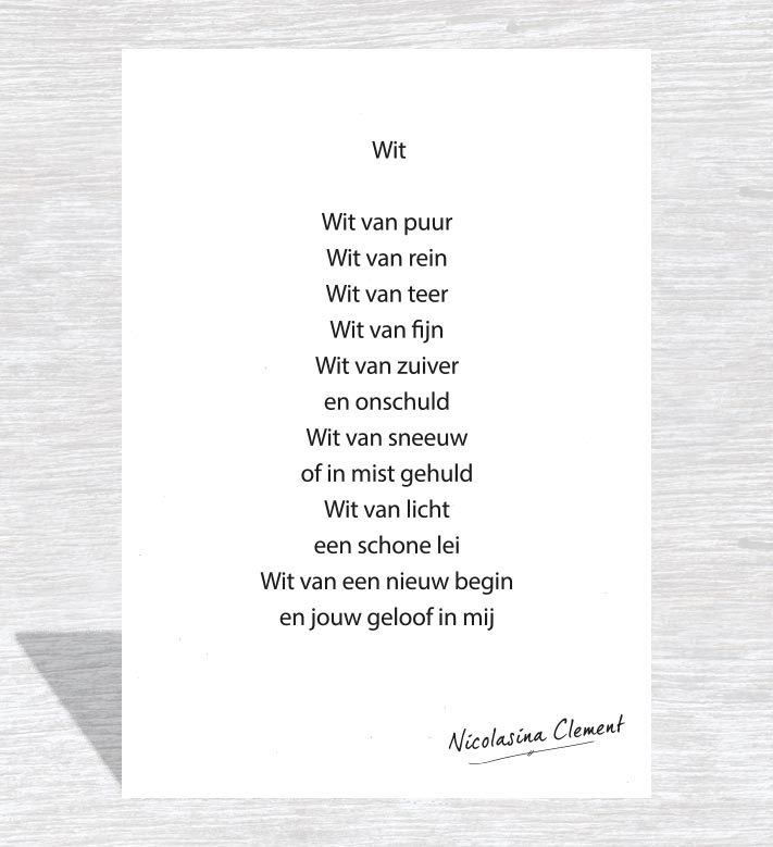 Woonkaart 'Wit'