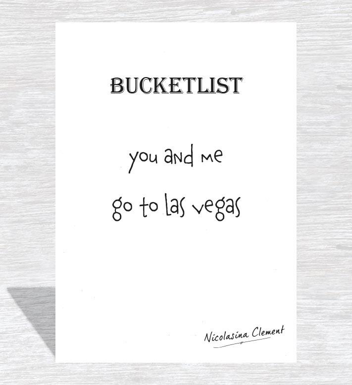 Bucketlist card - go to las vegas