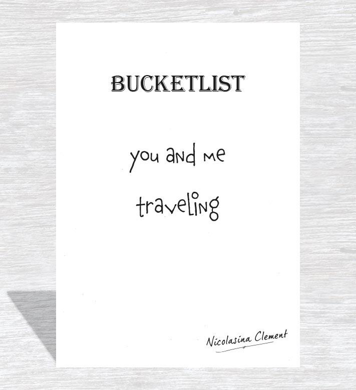 Bucketlist card - traveling