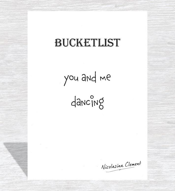Bucketlist card - dancing