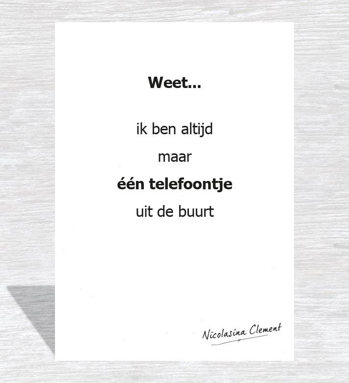 Een telefoontje