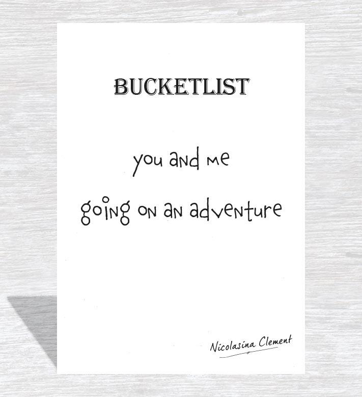 Bucketlist card - going on an adventure