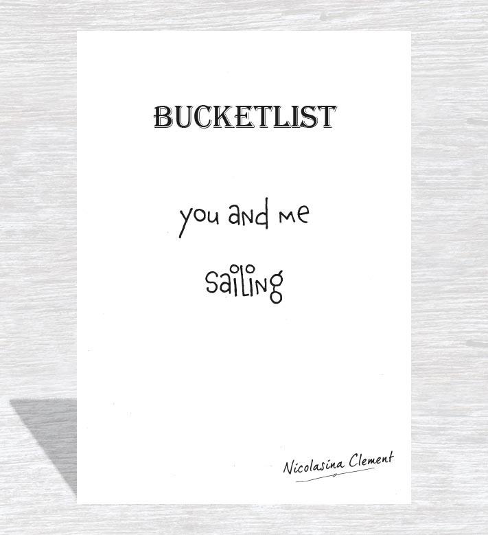 Bucketlist card - sailing