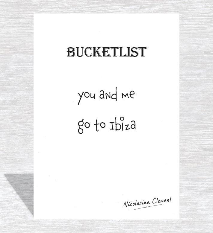 Bucketlist card - go to Ibiza