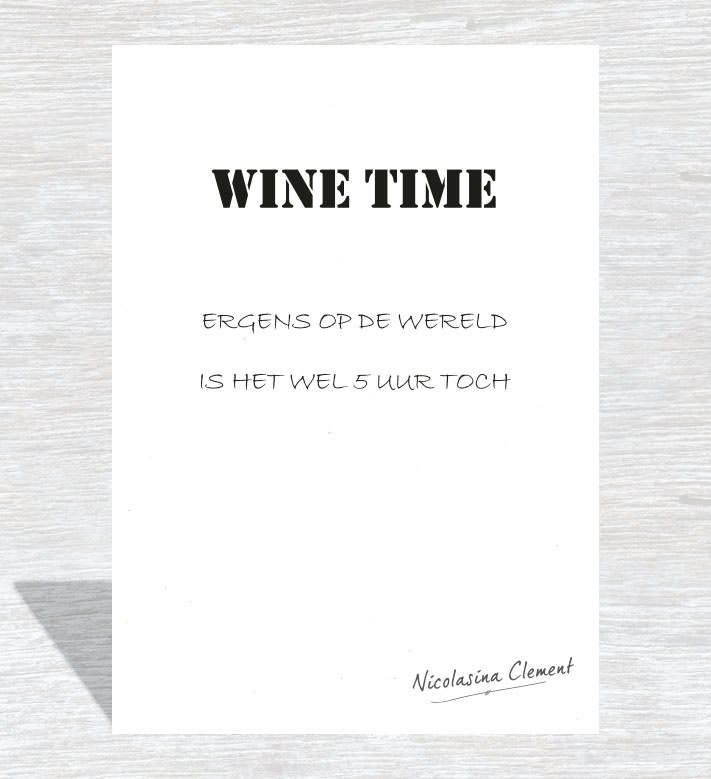 Kaart Wine time