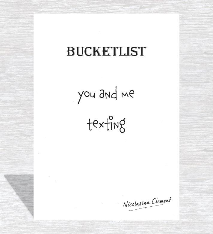 Bucketlist card - texting