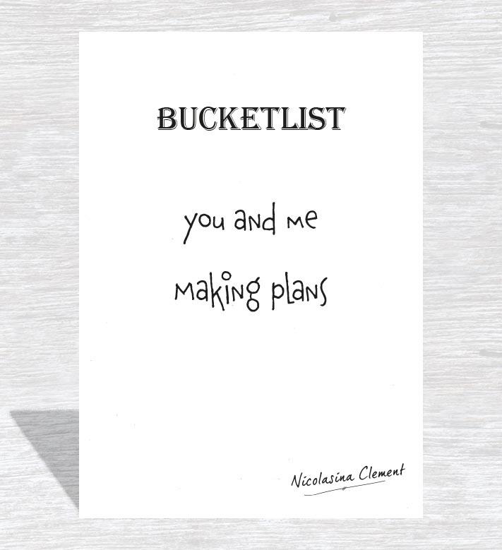 Bucketlist card - making plans