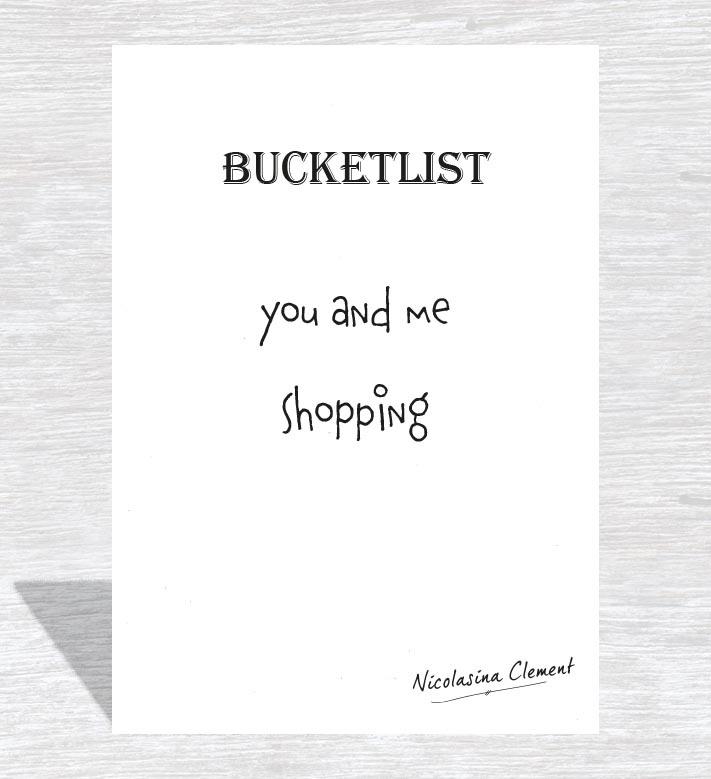 Bucketlist card - shopping