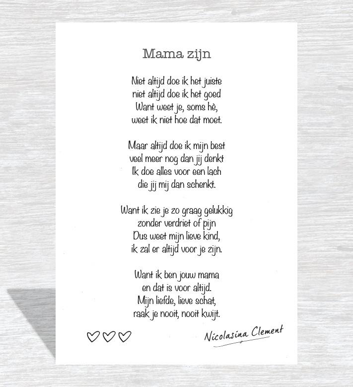 Kaart 'Mama zijn'