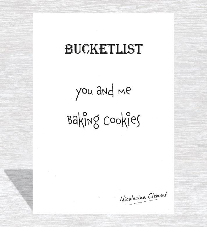 Bucketlist card - baking cookies