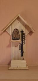 Thermometer huisje egel met voetjes omhoog