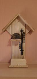 Thermometer huisje egel ligt