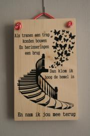 Als tranen een trap konden bouwen