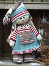 XXL Funny Bunny kledingset Christmas nordic girl