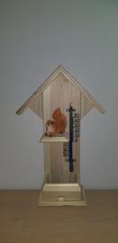 Thermometer huisje Eekhoorn liggend