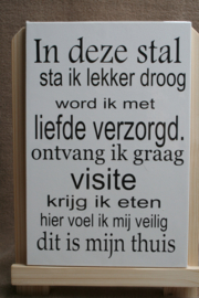 In deze stal
