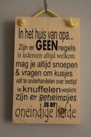 Steigerhouten tekstborden 20x30cm