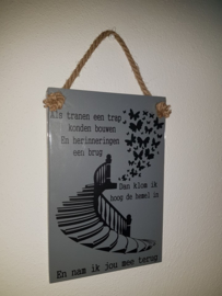 Als tranen een trap kunnen bouwen